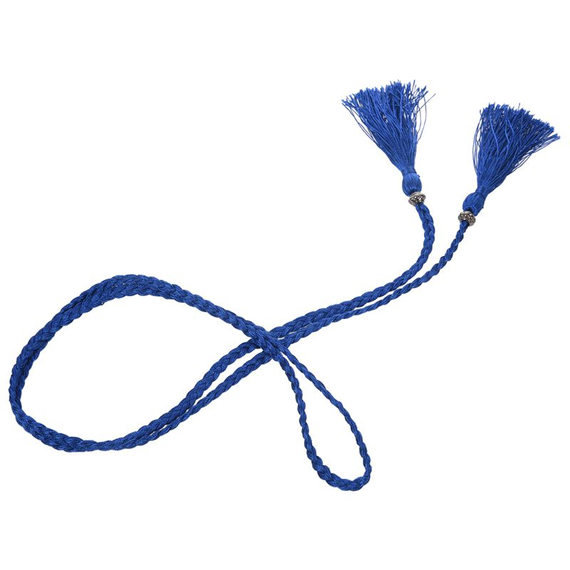 Woven-Pompon-Ceinture-Noeud-Decore-Taille-Chaine-Taille-Corde-P5N3 miniature 52