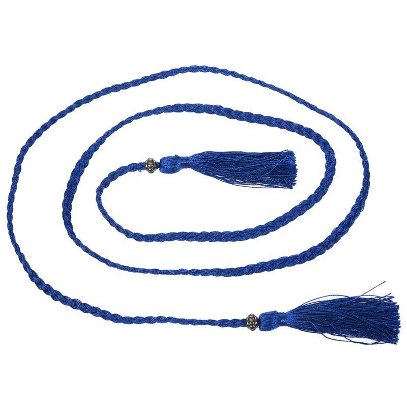 Woven-Pompon-Ceinture-Noeud-Decore-Taille-Chaine-Taille-Corde-P5N3 miniature 53