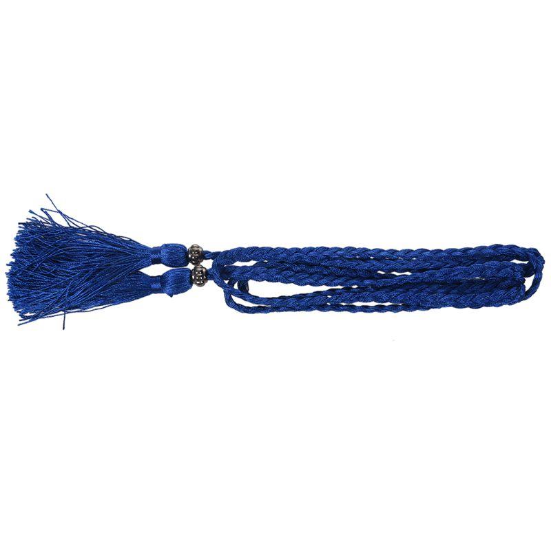 Woven-Pompon-Ceinture-Noeud-Decore-Taille-Chaine-Taille-Corde-P5N3 miniature 55