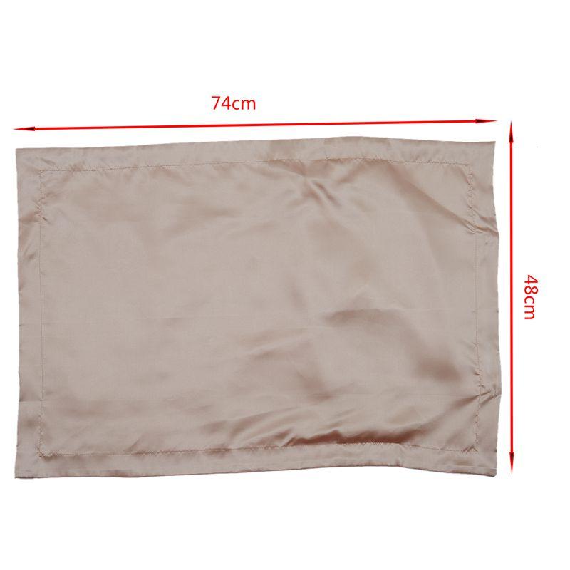 Juego-de-2-Funda-de-almohada-de-seda-super-suave-de-saten-Bolsa-protector-W4V8 miniatura 5