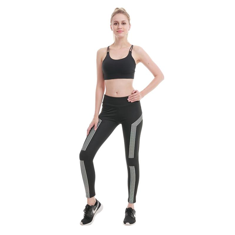 gym leggings with stripes