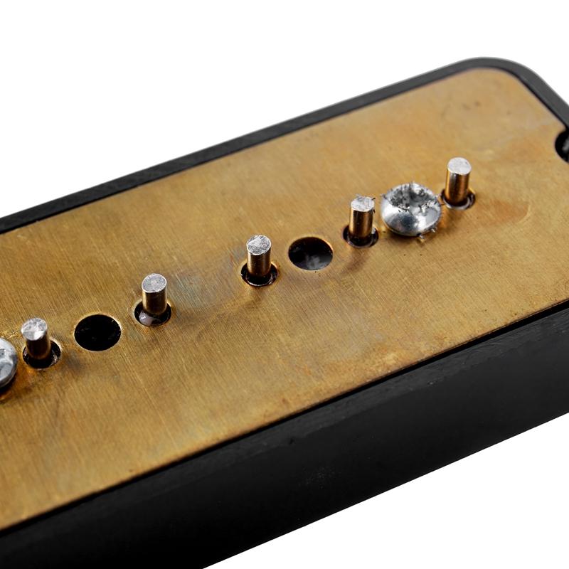 Brücke und Hals Soapbar Soap Bar Pickups 6 Loch für Gitarre Schwarz