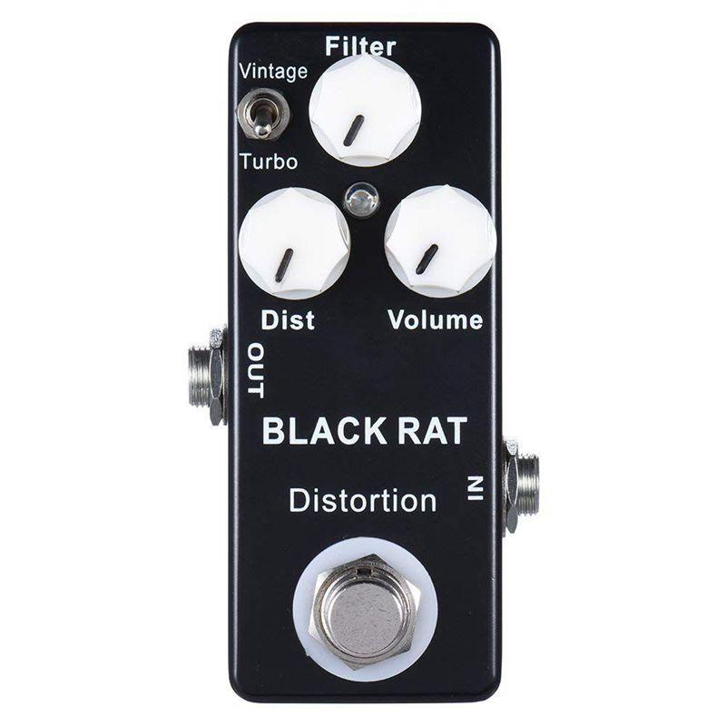 3X(Mosky schwarz RAT pedale d'effet de distorsion de mini guitare H8P3) 8T