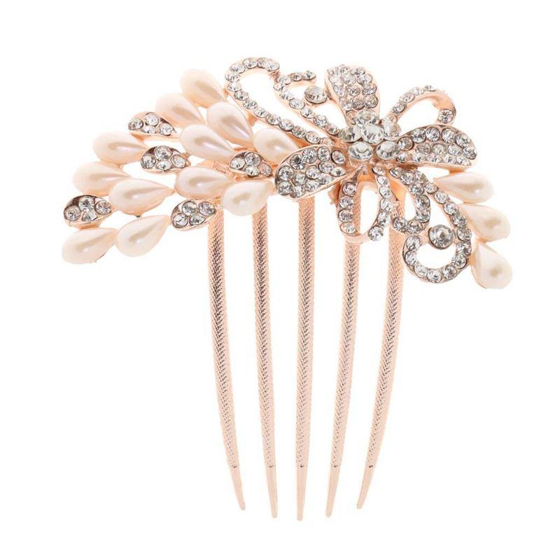 neuf 10x épingles à cheveux avec perle et strass mariée Bijoux Coiffe bijoux de cheveux
