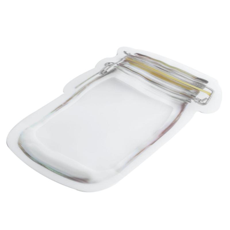 Bouteille-de-rangement-en-forme-de-sac-clair-Sac-en-plastique-Baggy-Grip-au-P9S0 miniature 3