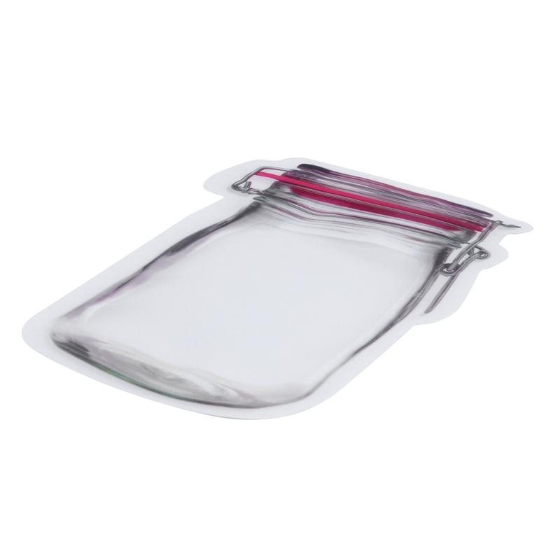 Bouteille-de-rangement-en-forme-de-sac-clair-Sac-en-plastique-Baggy-Grip-au-P9S0 miniature 11