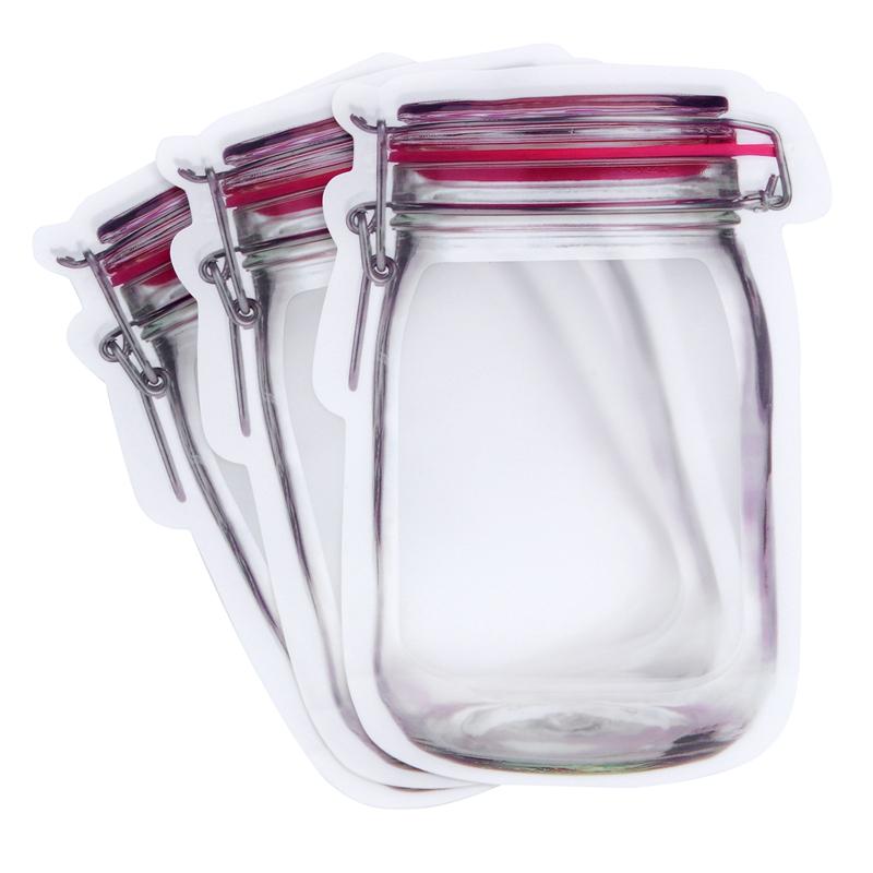 Bouteille-de-rangement-en-forme-de-sac-clair-Sac-en-plastique-Baggy-Grip-au-P9S0 miniature 12