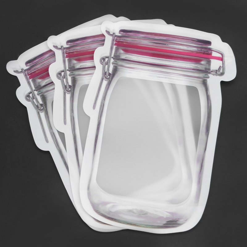 Bouteille-de-rangement-en-forme-de-sac-clair-Sac-en-plastique-Baggy-Grip-au-P9S0 miniature 13