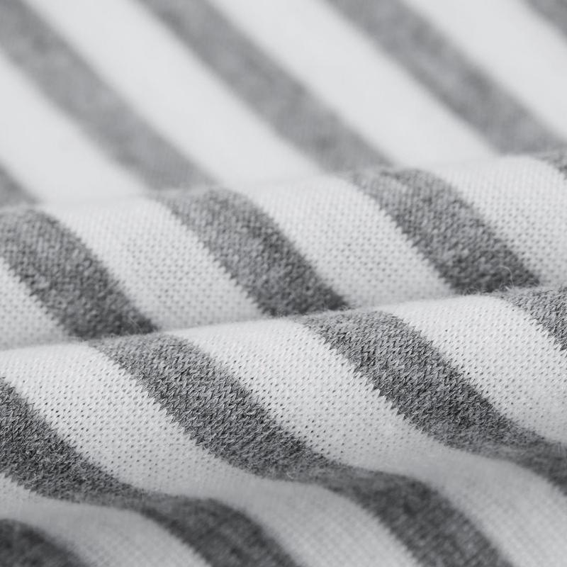 Camiseta-De-Manga-Corta-A-Rayas-Para-Mujer-Chaqueta-Informal-X1L9 miniatura 9