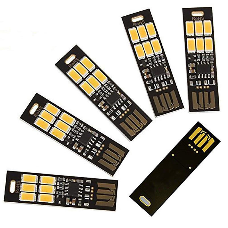 Ultra USB Lampe mit 6 LEDs LED Schlüsselhalter Leuchte Touch-Schalter