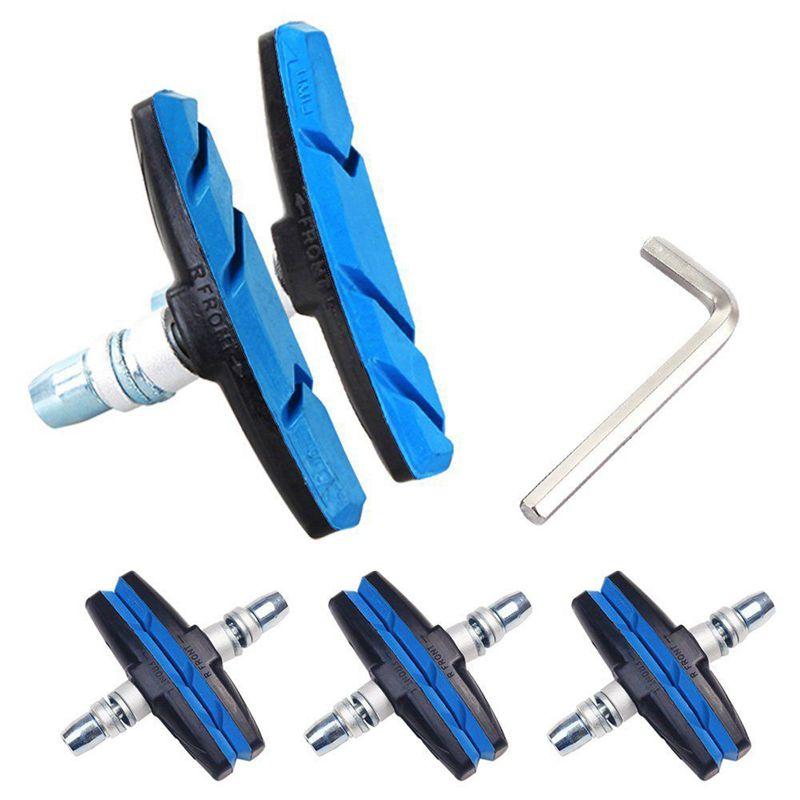 4 pares Pastillas de freno de goma Pastillas de freno de bicicleta de carretera MTB V Freno R SODIAL