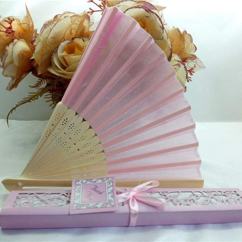 Bamboo-cloth-Hand-Held-Fan-Solid-Fan-with-Gift-Box-Bridal-Chinese-Bamboo-A6G1 thumbnail 4