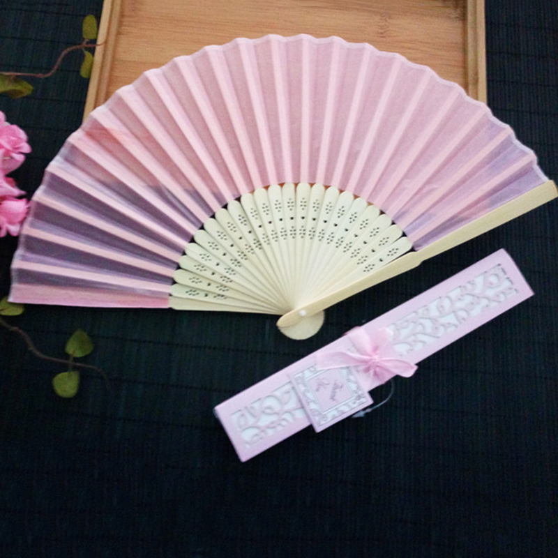 Bamboo-cloth-Hand-Held-Fan-Solid-Fan-with-Gift-Box-Bridal-Chinese-Bamboo-A6G1 thumbnail 5
