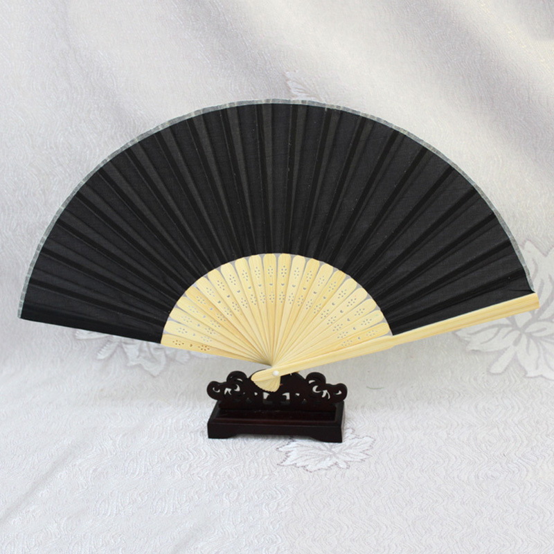 Bamboo-cloth-Hand-Held-Fan-Solid-Fan-with-Gift-Box-Bridal-Chinese-Bamboo-A6G1 thumbnail 9