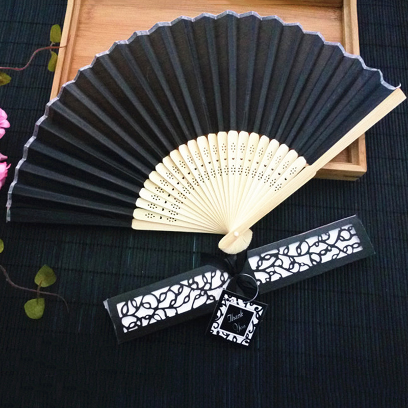 Bamboo-cloth-Hand-Held-Fan-Solid-Fan-with-Gift-Box-Bridal-Chinese-Bamboo-A6G1 thumbnail 10