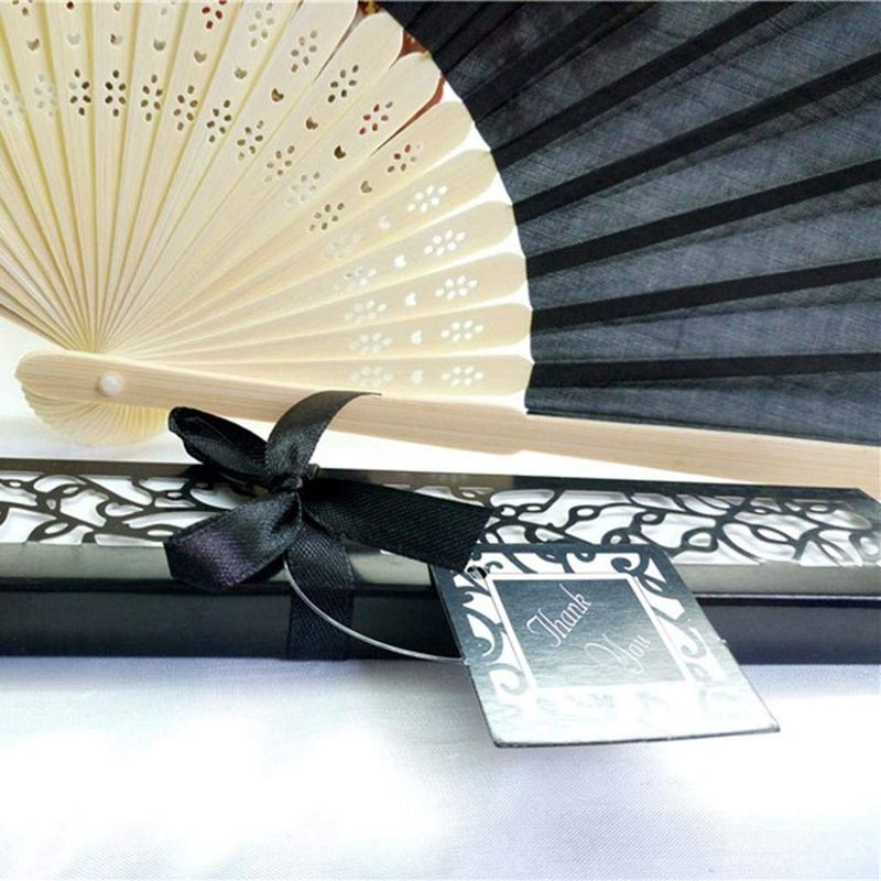 Bamboo-cloth-Hand-Held-Fan-Solid-Fan-with-Gift-Box-Bridal-Chinese-Bamboo-A6G1 thumbnail 13