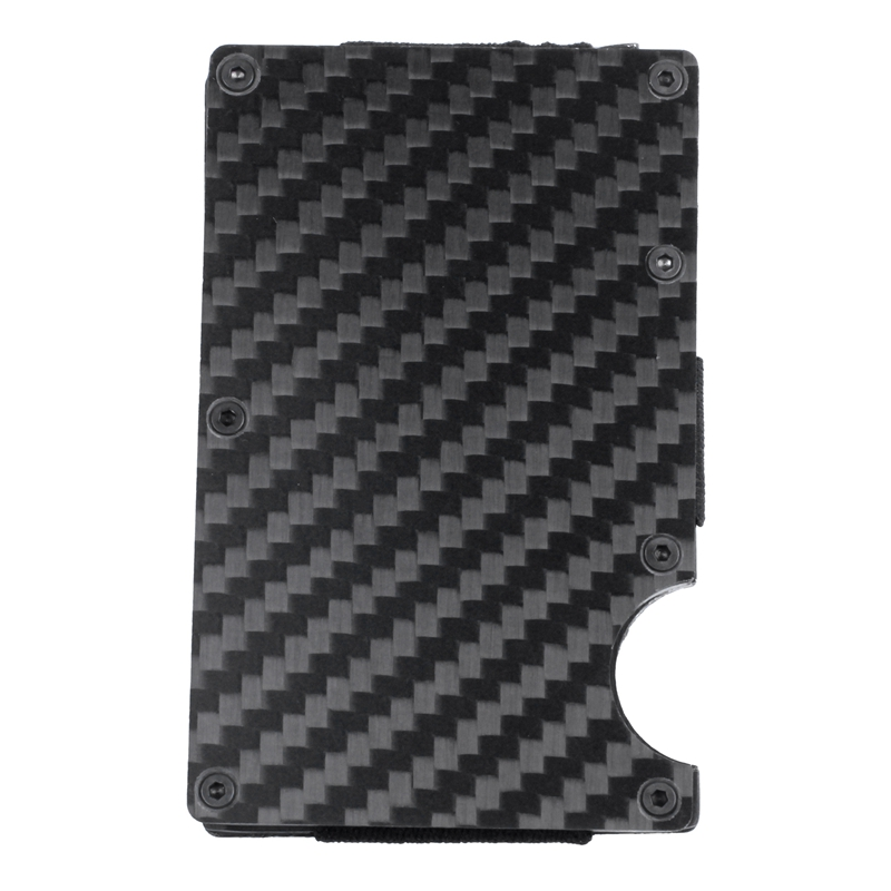 Moderne-minimalistische-Brieftasche-Universal-duenner-Geldbeutel-Kohlefaser-C7G5 Indexbild 13
