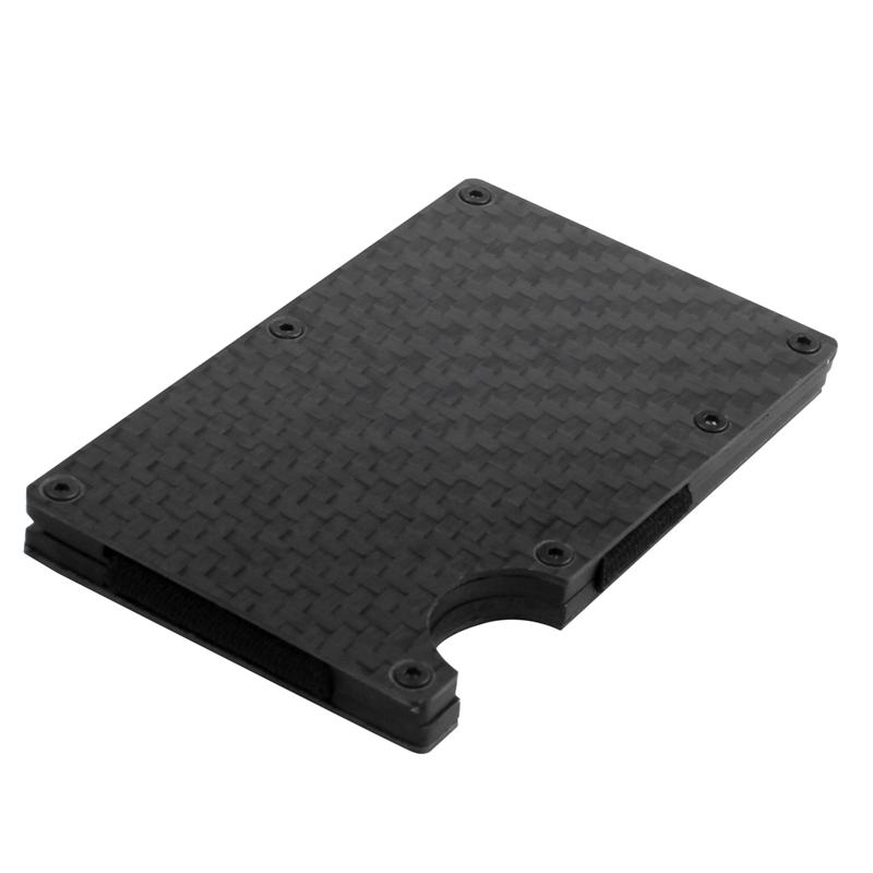 Moderne-minimalistische-Brieftasche-Universal-duenner-Geldbeutel-Kohlefaser-C7G5 Indexbild 14