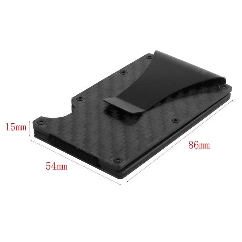 Moderne-minimalistische-Brieftasche-Universal-duenner-Geldbeutel-Kohlefaser-C7G5 Indexbild 16