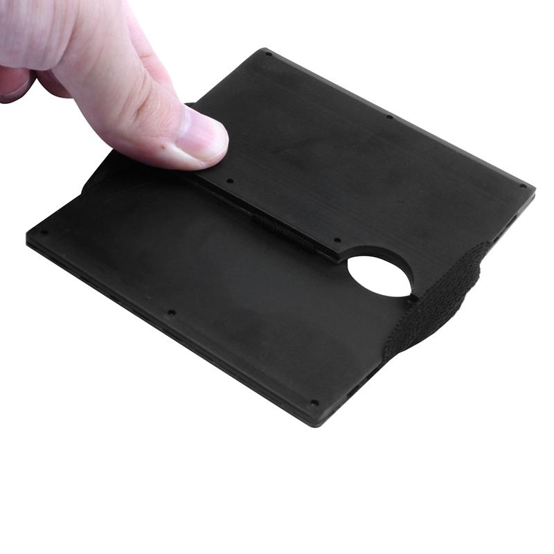 Moderne-minimalistische-Brieftasche-Universal-duenner-Geldbeutel-Kohlefaser-C7G5 Indexbild 18