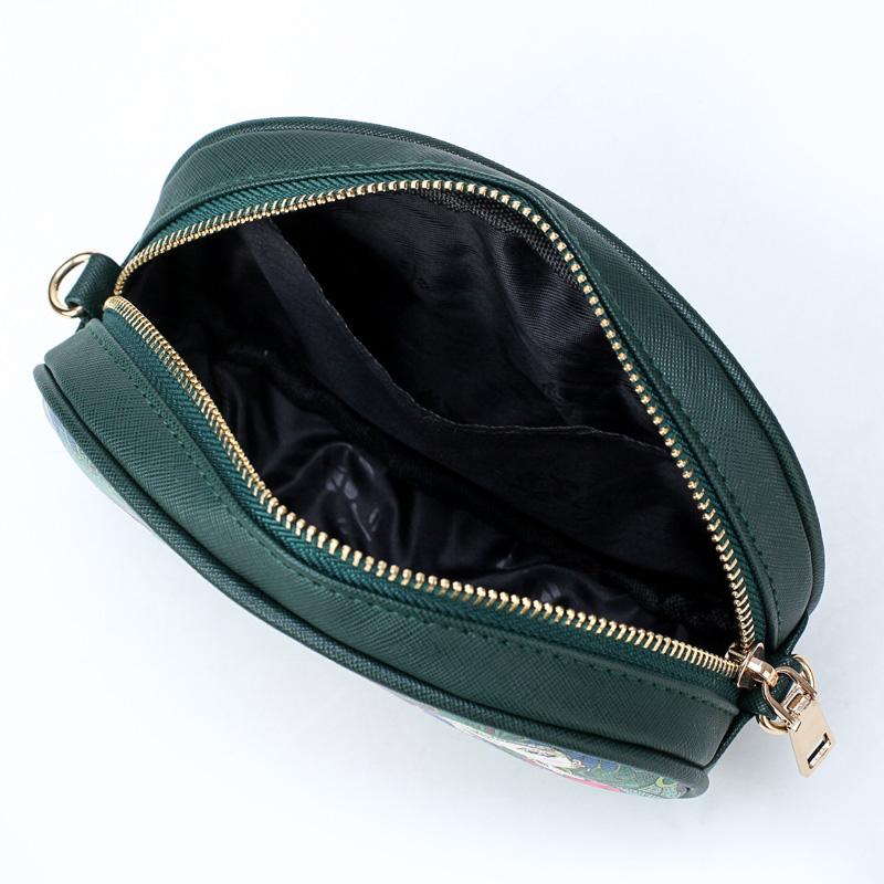 New-PU-leather-Ladies-Green-Cartoon-Waist-Bags-Women-Waist-Fanny-Packs-Belt-W9F8