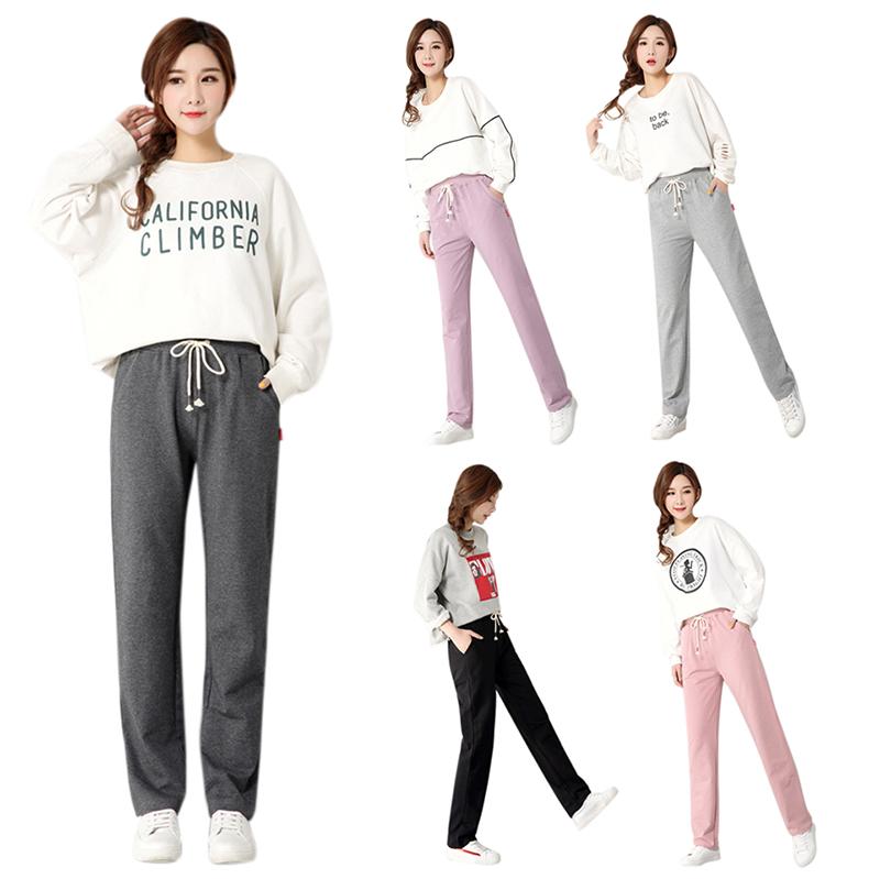 6X(Autumn Ladies Plus Size Casual Pants Women Sport Yoga Loose Long Trouser C9K4