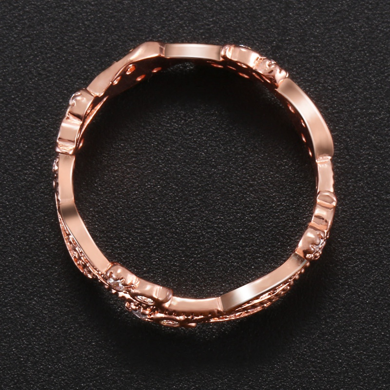 1X-Anillo-floral-de-oro-rosa-macizo-exquisito-para-mujer-Joya-de-coctel-hojN5E7 miniatura 17
