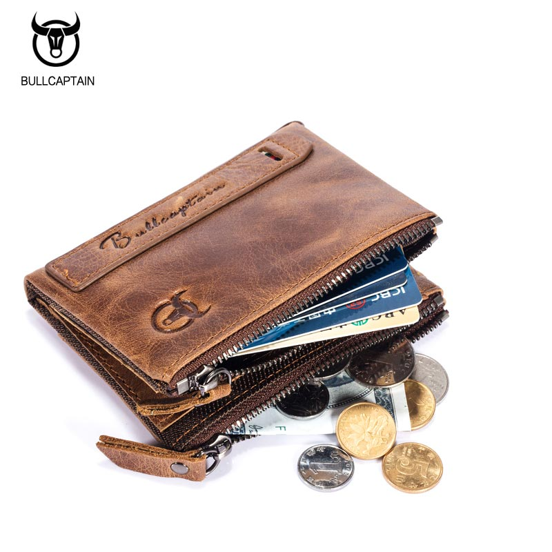 Bullcaptain-Bifold-Clasica-Marca-Cuero-Para-Hombre-Cartera-De-Cuero-Dinero-E7P7 miniatura 4