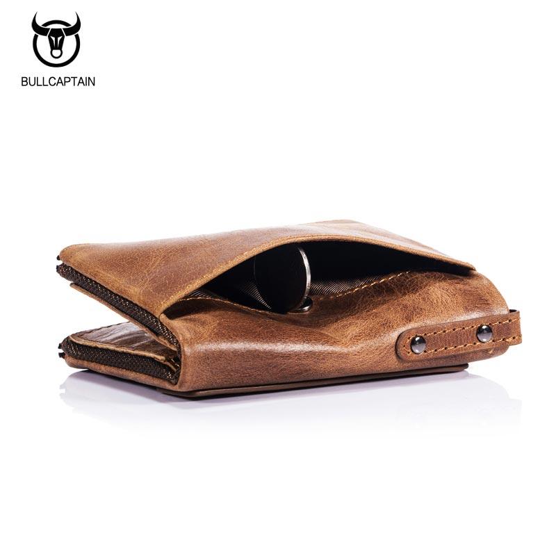 Bullcaptain-Bifold-Clasica-Marca-Cuero-Para-Hombre-Cartera-De-Cuero-Dinero-E7P7 miniatura 7