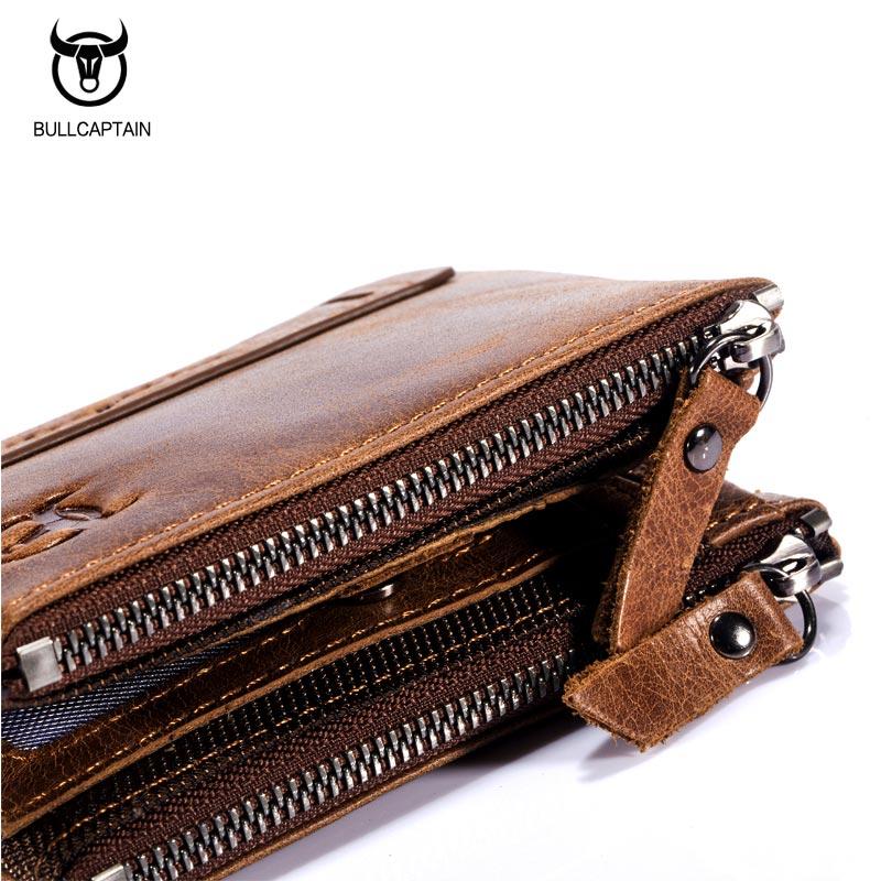 Bullcaptain-Bifold-Clasica-Marca-Cuero-Para-Hombre-Cartera-De-Cuero-Dinero-E7P7 miniatura 8