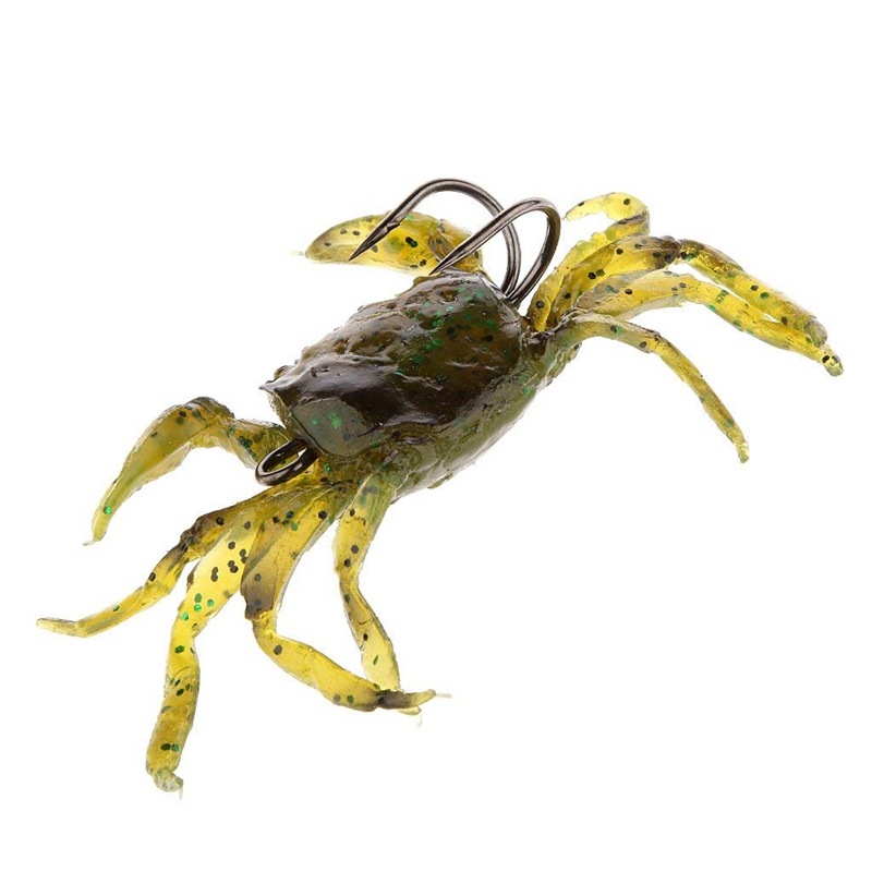 Attirail-de-Peche-Leurre-Souple-Crabe-Artificiel-Crochet-G3O9 miniature 5