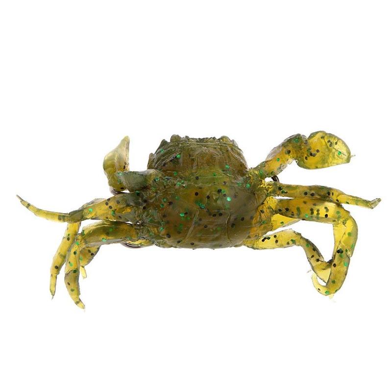 Attirail-de-Peche-Leurre-Souple-Crabe-Artificiel-Crochet-G3O9 miniature 6