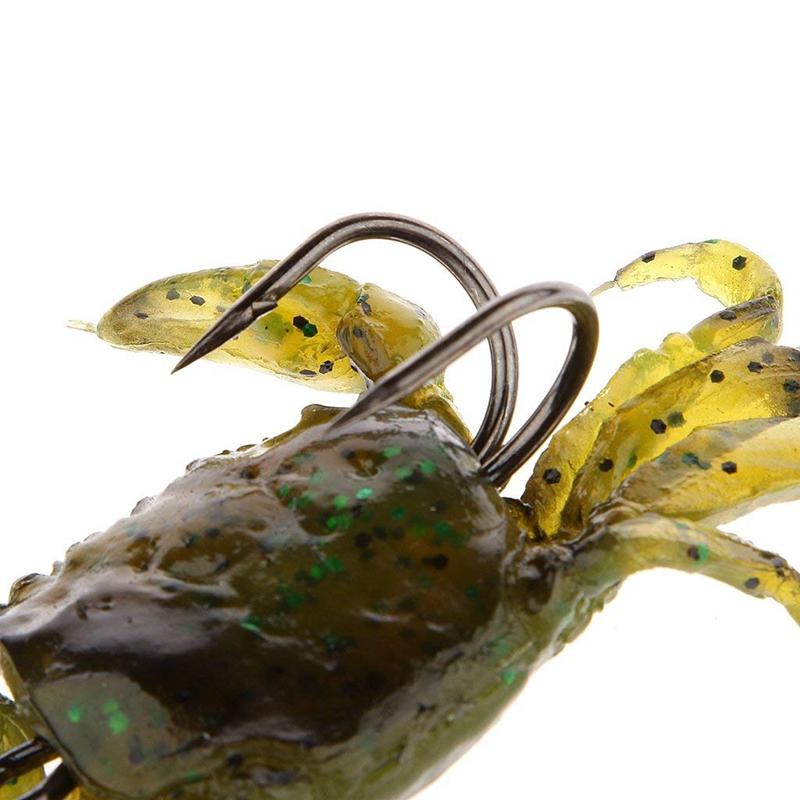 Attirail-de-Peche-Leurre-Souple-Crabe-Artificiel-Crochet-G3O9 miniature 7