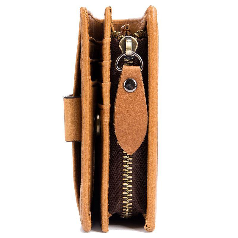 BULLCAPTAIN-Cuir-veritable-Portefeuilles-pour-hommes-Porte-cartes-de-credit-N8T4 miniature 10