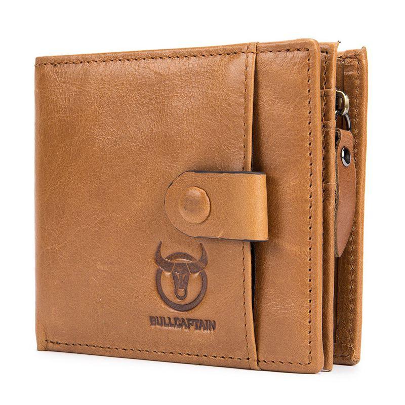 BULLCAPTAIN-Cuir-veritable-Portefeuilles-pour-hommes-Porte-cartes-de-credit-N8T4 miniature 12