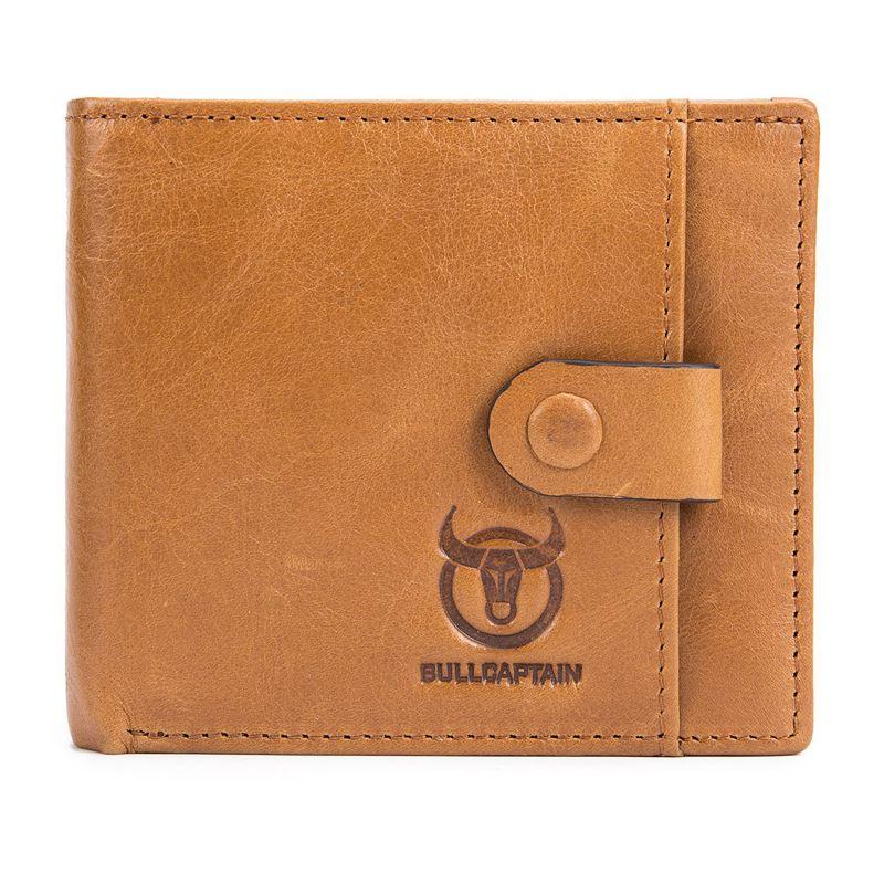 BULLCAPTAIN-Cuir-veritable-Portefeuilles-pour-hommes-Porte-cartes-de-credit-N8T4 miniature 13