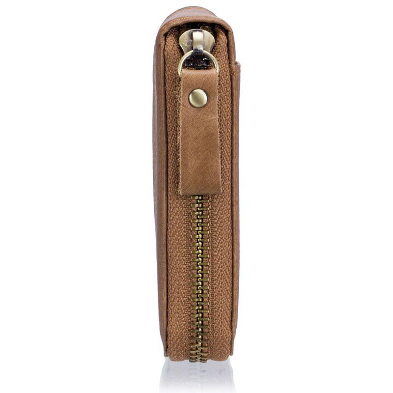 BULLCAPTAIN-Cuir-veritable-Portefeuilles-de-loisir-pour-hommes-Porte-cartes-Z9C8 miniature 5