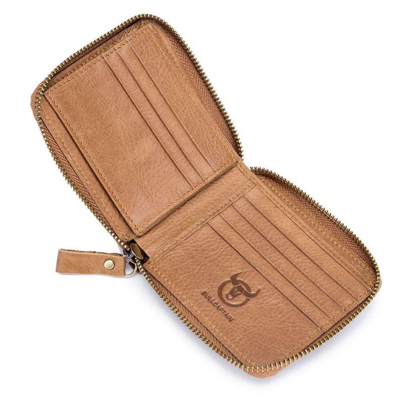 BULLCAPTAIN-Cuir-veritable-Portefeuilles-de-loisir-pour-hommes-Porte-cartes-Z9C8 miniature 6