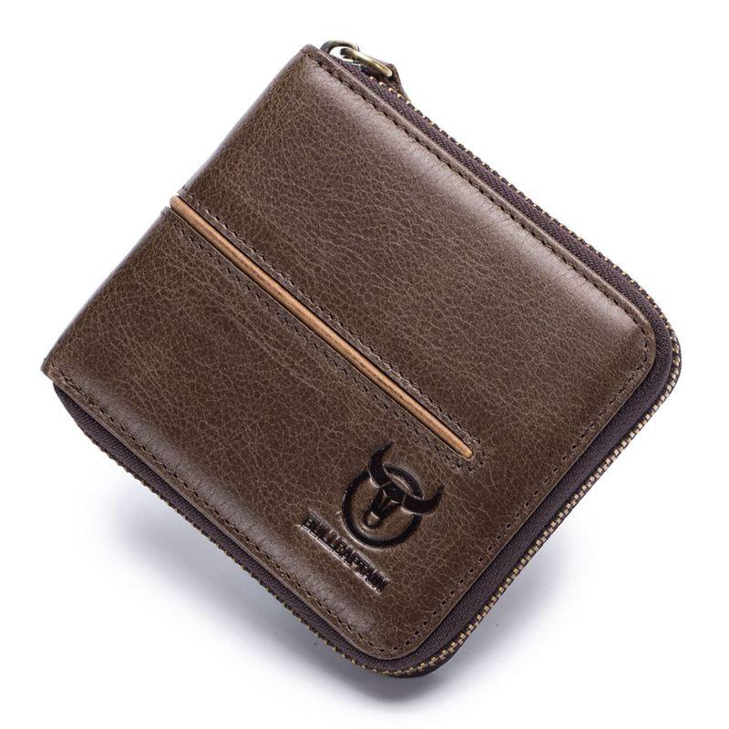 BULLCAPTAIN-Cuir-veritable-Portefeuilles-de-loisir-pour-hommes-Porte-cartes-Z9C8 miniature 14