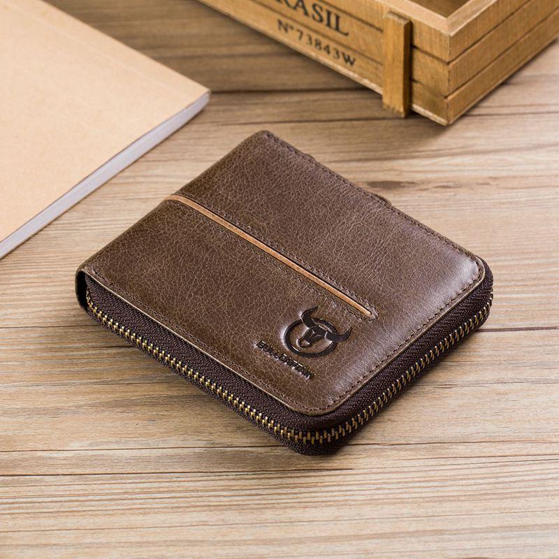 BULLCAPTAIN-Cuir-veritable-Portefeuilles-de-loisir-pour-hommes-Porte-cartes-Z9C8 miniature 15