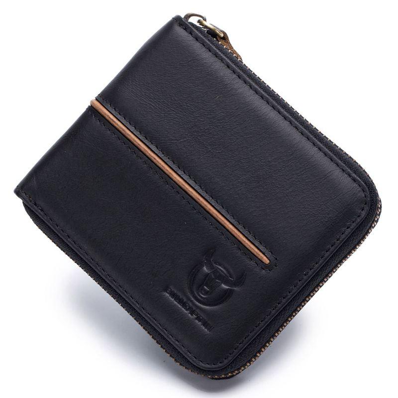 BULLCAPTAIN-Cuir-veritable-Portefeuilles-de-loisir-pour-hommes-Porte-cartes-Z9C8 miniature 20
