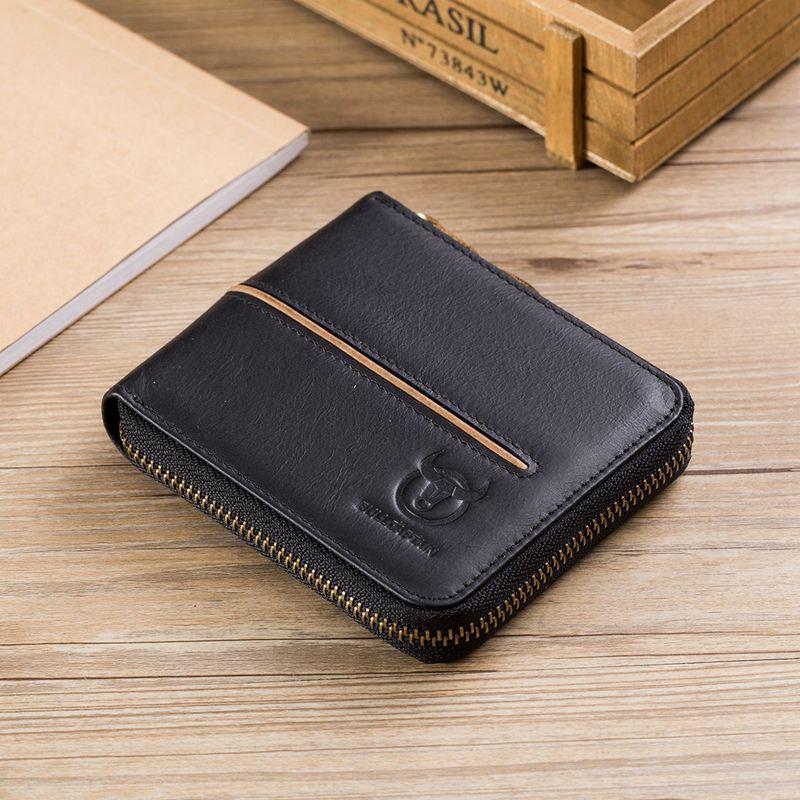 BULLCAPTAIN-Cuir-veritable-Portefeuilles-de-loisir-pour-hommes-Porte-cartes-Z9C8 miniature 21