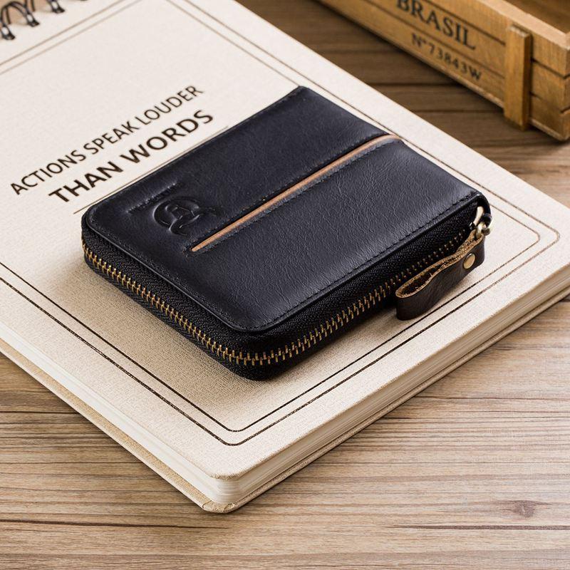 BULLCAPTAIN-Cuir-veritable-Portefeuilles-de-loisir-pour-hommes-Porte-cartes-Z9C8 miniature 22