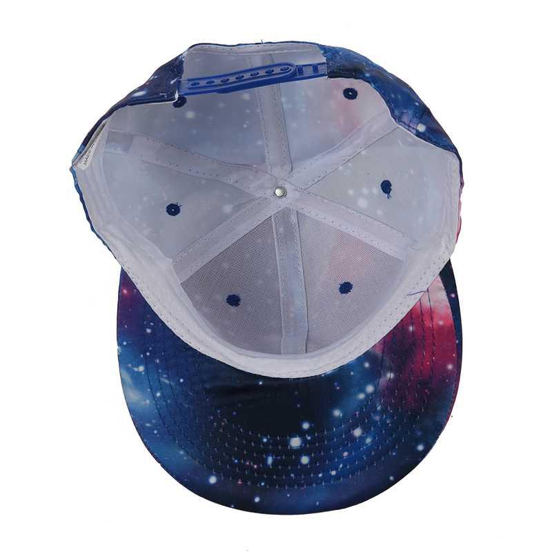 Galaxy Space Baseball Snapback Cap Unisex Women Men Hip Hop Dance Flat Peak E9F7