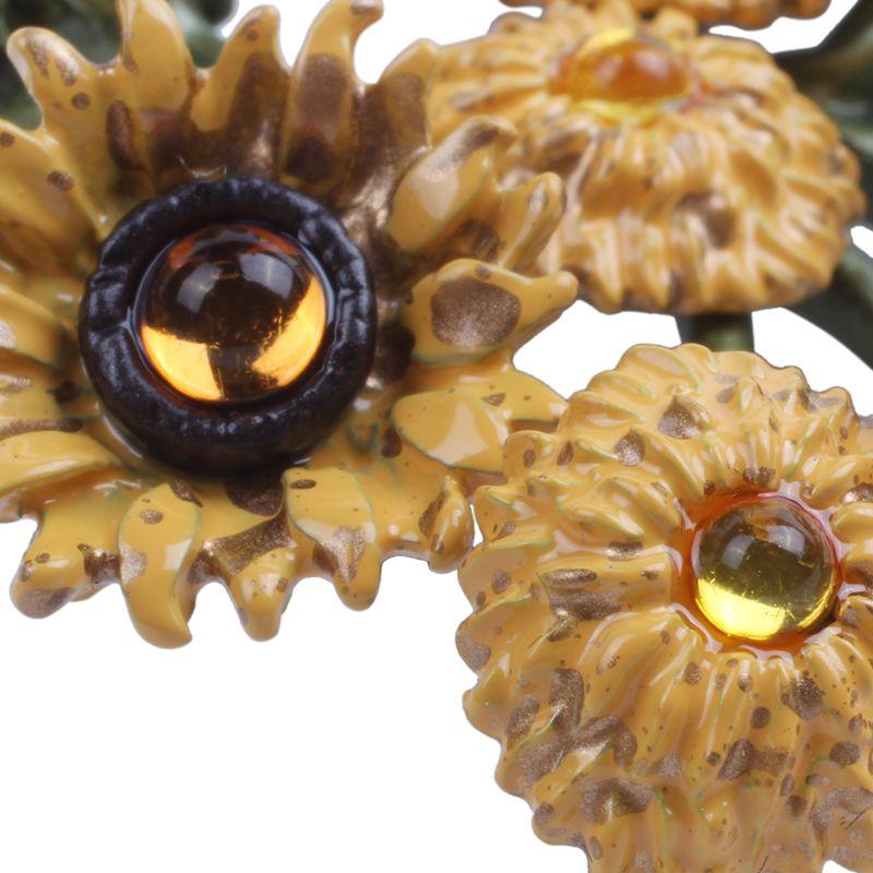 Archaistische Brosche Schmuck Sonnenblumen Broschen Schals Frauen Hochzeit S2 2X