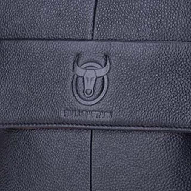 BULLCAPTAIN-Sac-de-valise-pour-hommes-Sac-a-bandouliere-en-cuir-veritable-pou-T6 miniature 5