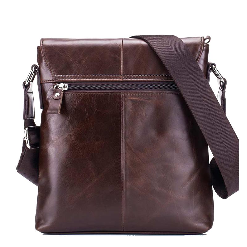BULLCAPTAIN-Sac-de-valise-pour-hommes-Sac-a-bandouliere-en-cuir-veritable-pou-T6 miniature 11