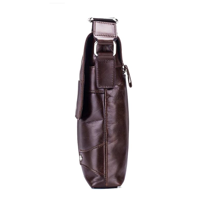 BULLCAPTAIN-Sac-de-valise-pour-hommes-Sac-a-bandouliere-en-cuir-veritable-pou-T6 miniature 12