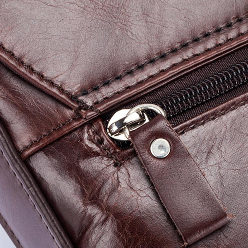 BULLCAPTAIN-Sac-de-valise-pour-hommes-Sac-a-bandouliere-en-cuir-veritable-pou-T6 miniature 14