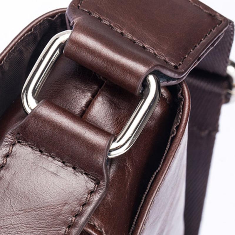 BULLCAPTAIN-Sac-de-valise-pour-hommes-Sac-a-bandouliere-en-cuir-veritable-pou-T6 miniature 15